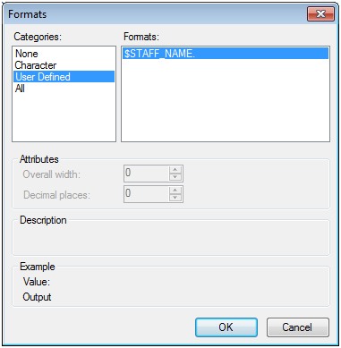 Creating a Format from a Data Set in SAS Enterprise Guide