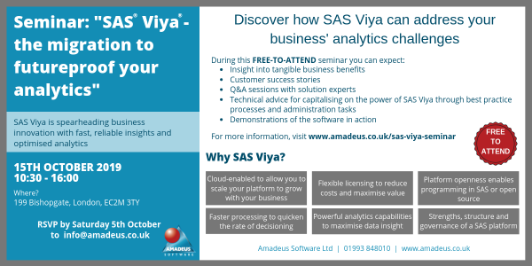 SEMINAR: SAS® Viya® - The Migration to Futureproof Your